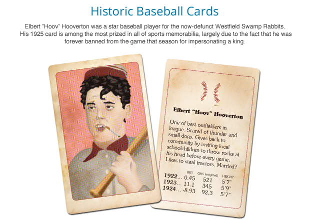 Historic Baseball Cards