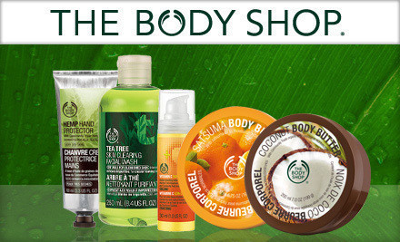 $20 Certificate for Bath and Body Products from The Body Shop Stores $10