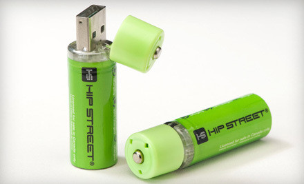 2-Pack USB Rechargeable AA Batteries