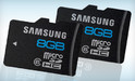 Two Samsung 8 GB Water and Shock-Proof Class 6 MicroSDHC Memory Cards