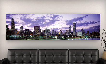 City Skyline Gallery Canvas Print