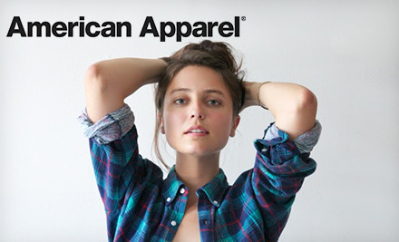 Clothing and Accessories from American Apparel Online or In-Store: $50 Worth for $25 or $100 Worth for $50