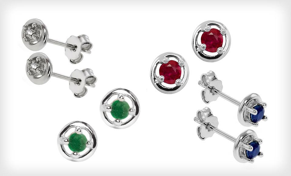 $24 for 4 Pairs of Gemstone Earrings