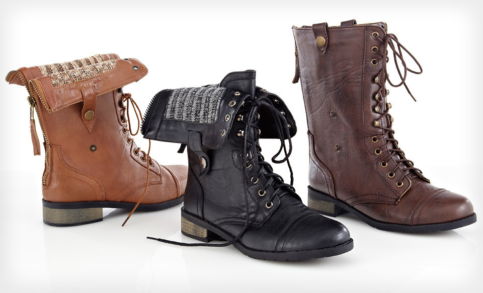 Carrini Women's Vegan Combat Boots $29 Shipped from Groupon - The ...