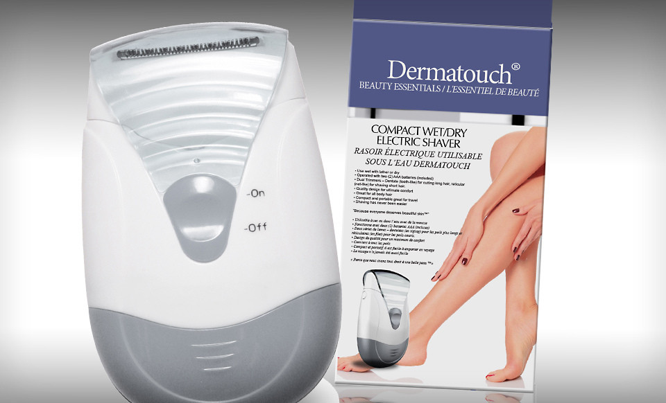 Dermatouch Compact Wet/Dry Electric Shaver with Dual Trimmers