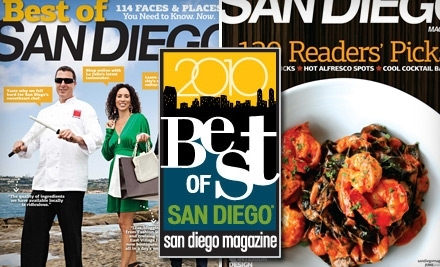 San Diego Magazine: Admission to