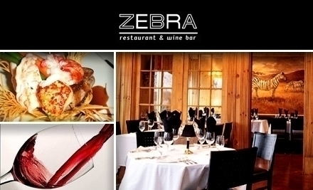 Zebra restaurant and wine bar charlotte nc groupon for Asian cuisine mint hill nc