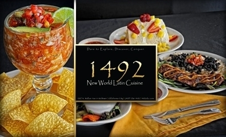 1492 new world latin cuisine oklahoma city ok groupon for 1492 new world latin cuisine oklahoma city