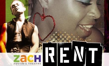 RENT at ZACH Theatre:  9/17 at 8PM - ZACH Theatre in Austin
