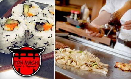 Hon Machi Sushi & Teppanyaki: $14 Groupon Toward Lunch - Hon Machi Sushi & Teppanyaki in San Antonio