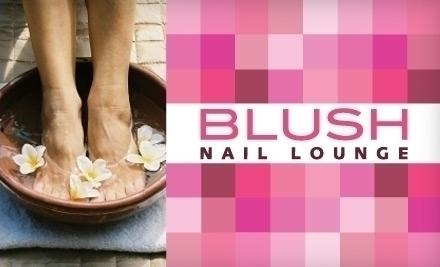 Blush nail lounge new york ny groupon for Fish pedicure nyc