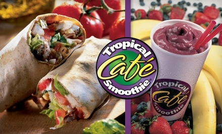 $10 Groupon to Tropical Smoothie Cafe:  2307 Far Hills Ave. in Oakwood - Tropical Smoothie Cafe Dayton in Centerville