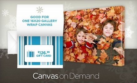 Good for One $126.95 Gift Card from Canvas on Demand - Canvas on Demand in