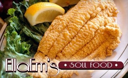 $16 Groupon to EllaEm's Soul Food - EllaEm's Soul Food in Las Vegas
