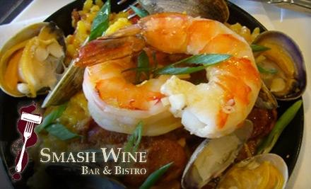 $50 Groupon to Smash Wine Bar & Bistro - Smash Wine Bar & Bistro in Seattle