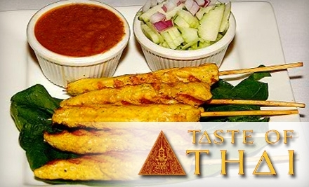 $25 Groupon to Taste of Thai at 527 University Ave. in San Diego - Taste of Thai in San Diego