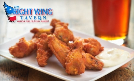 $25 Groupon to Right Wing Tavern - Right Wing Tavern in Woodstock