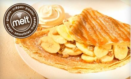 $10 Groupon to Melt Gelato & Crepe Cafe - Melt Gelato & Crepe Cafe in Natick