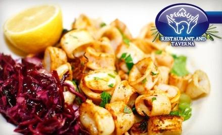 $40 Groupon to Pegasus Restaurant and Taverna - Pegasus Restaurant and Taverna in Chicago