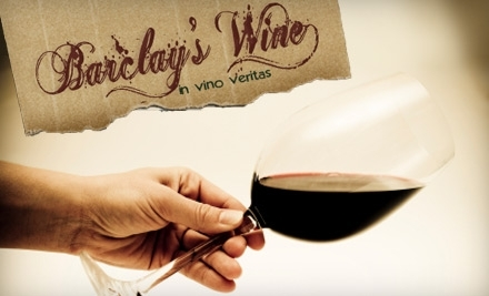$75 Groupon to Barclay's Wine - Barclay's Wine in