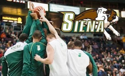 Siena Saints vs. St. Peter's Peacocks on Wed., Feb.16 at 7PM: Floor Seating - Siena Saints in Albany