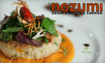 Nozumi Asian Cuisine and Lounge: $30 Groupon for Dinner - Nozumi Asian Cuisine and Lounge in South Barrington