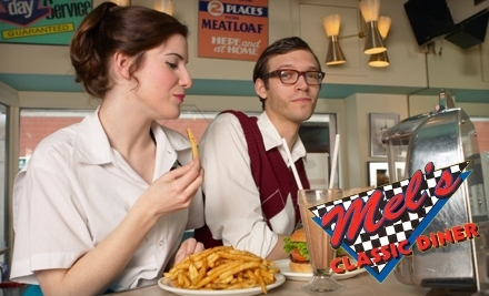 $14 Groupon to Mel's Classic Diner - Mel's Classic Diner in Pigeon Forge