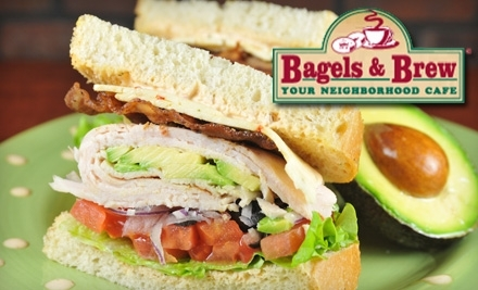 $12 Groupon to Bagels & Brew - Bagels & Brew in Lake Forest