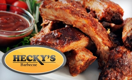 $20 Groupon to Hecky's Barbecue - Hecky's Barbecue in Evanston