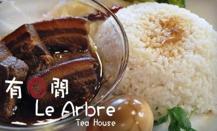 $14 Groupon to Le Arbre Tea House - Le Arbre Tea House in Rosemead