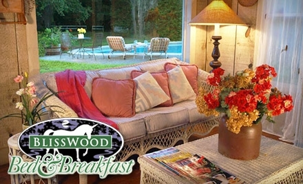 BlissWood Bed and Breakfast: 2-Night Weekday Stay with Wine Bottle/Tasting, Flowers, & Coupons - BlissWood Bed and Breakfast in Cat Spring