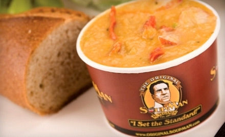 The Original Soupman at 259 W 55 St. in New York: $10 Groupon - The Original Soupman in New York