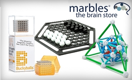 $40 Groupon to Marbles: The Brain Store - Marbles: The Brain Store in