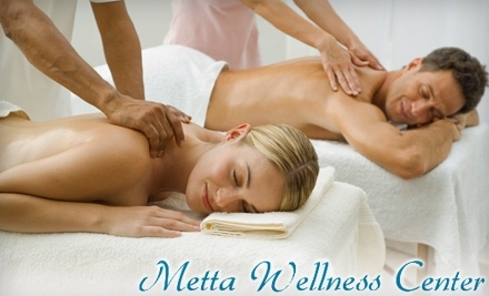 Metta Wellness Center: One-Hour Couple's Massage, Complete with Thai Foot Wash and Customized Tea Service  - Metta Wellness Center in Westminster