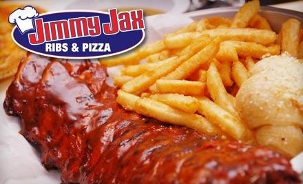 $20 Groupon to Jimmy Jax Ribs & Pizza - Jimmy Jax Ribs & Pizza in Sunrise