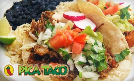 $20 Groupon to Pica Taco at 1406 Florida Ave. NW - Pica Taco in Washington