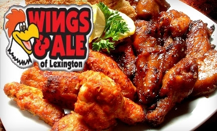 $20 Groupon to Wings and Ale of Lexington - Wings and Ale of Lexington in Lexington