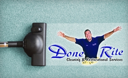 Done Rite Carpet Care: Dry Carpet Cleaning for 2 Rooms - Done Rite Carpet Care in