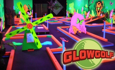 Glowgolf: 2 Adult Passes Good for 3 Rounds of Mini Golf - Glowgolf in Indianapolis