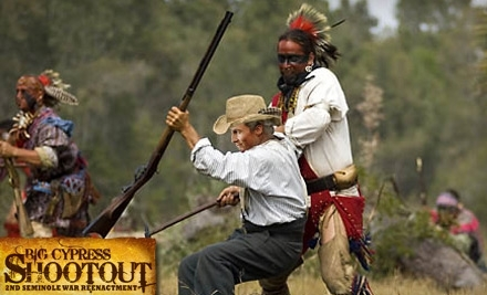 Big Cypress Shootout Second Seminole War Reenactment on Sat., Feb. 26 at 11AM or 3PM and Sun., Feb. 27 at 2PM - Big Cypress Shootout Second Seminole War Reenactment in Clewiston