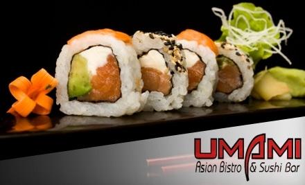 $40 Groupon to Umami Asian Bistro & Sushi Bar - Umami Asian Bistro & Sushi Bar in Sanford