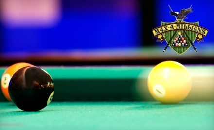 Maxamillians: 10-Hour Punch Card for Pool for Up To 6 Players - Maxamillians Billiards and Sports Bar in Tyngsboro