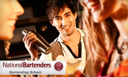 Good for a 4-Hour Cocktail-Making Course - National Bartenders Bartending School in Los Angeles