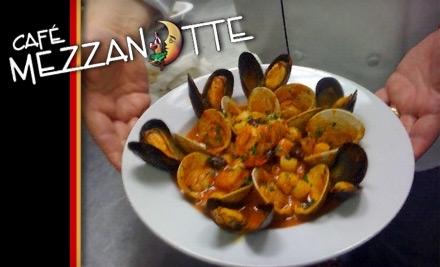 $40 Groupon to Cafe Mezzanotte - Cafe Mezzanotte in Wilmington