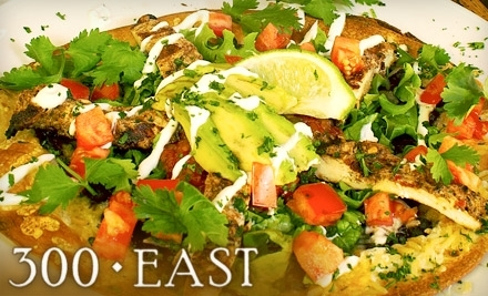 $50 Groupon to 300 East - 300 East in Charlotte