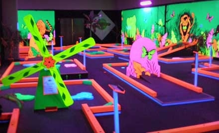 Glowgolf: 2 Child Passes for 3 Rounds of Mini Golf - Glowgolf in Vernon Hills