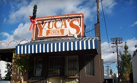 Yuca's, and Yuca's on Hollywood: $20 Groupon - Yuca's, and Yuca's on Hollywood in Los Feliz Village