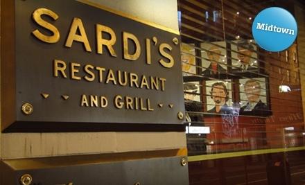 Sardi's: $30 Groupon toward Lunch - Sardi's in Manhattan