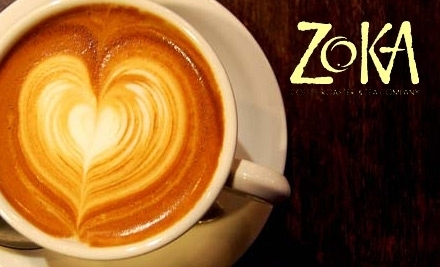 $10 Groupon to Zoka Coffee Roasters & Tea Company - Zoka Coffee Roasters & Tea Company in Seattle