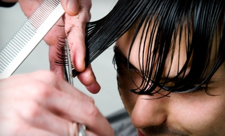 Spa in the City: Men's Haircut, Shampoo, Razor Finish and Scalp Treatment - Spa in the City in Indianapolis